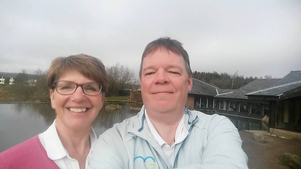 Day 1 - March, Mandy and I en route to Glasgow at Tebay Services