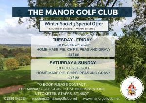 manor WINTER SOCIETY OFFER