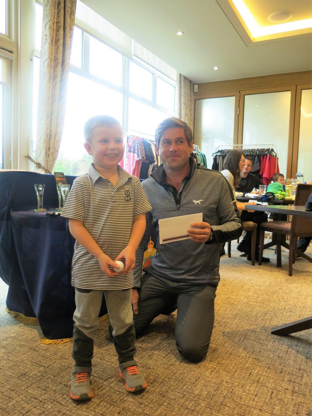 Winner Sebastian Duffield a 5 year old golfer (Windlesham Golf Club)