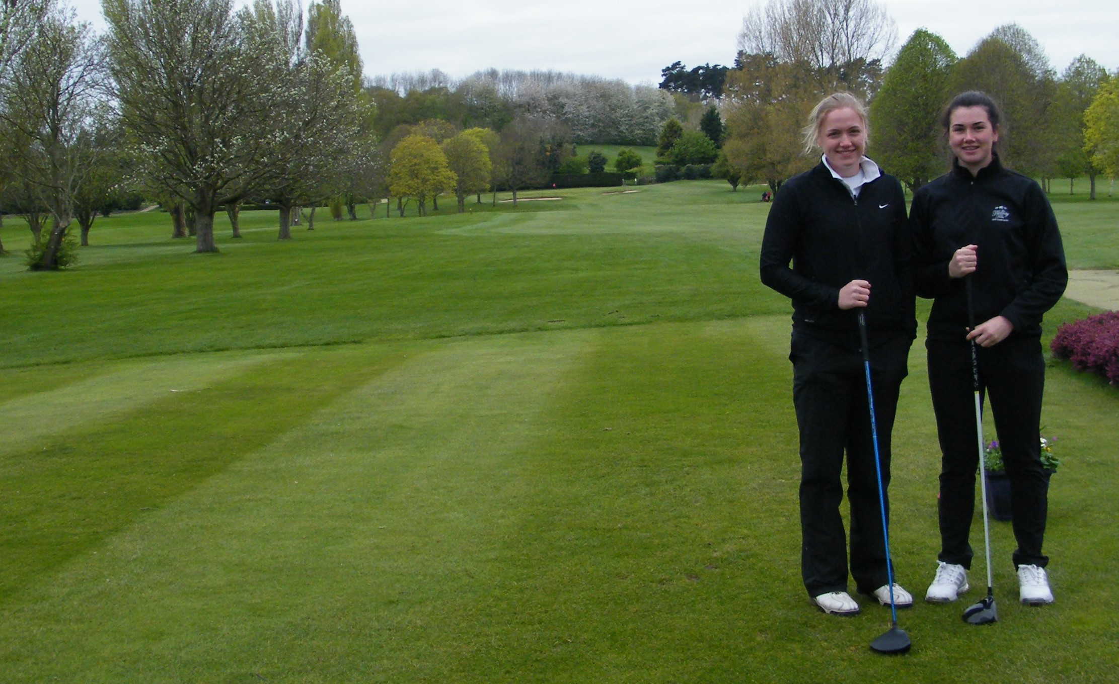 Lucy Walton and Sophie Johnson lead the field in the 2017 Droitwich Junior Girls Open