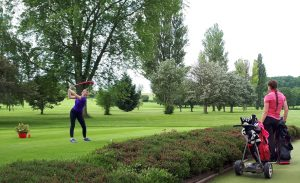 DGC Open Izzy Lloyd Tees off the first